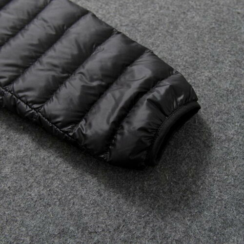 Packable Parka Men/'s Duck Down Jacket Winter Ultralight Coat Solid Hooded Puffer