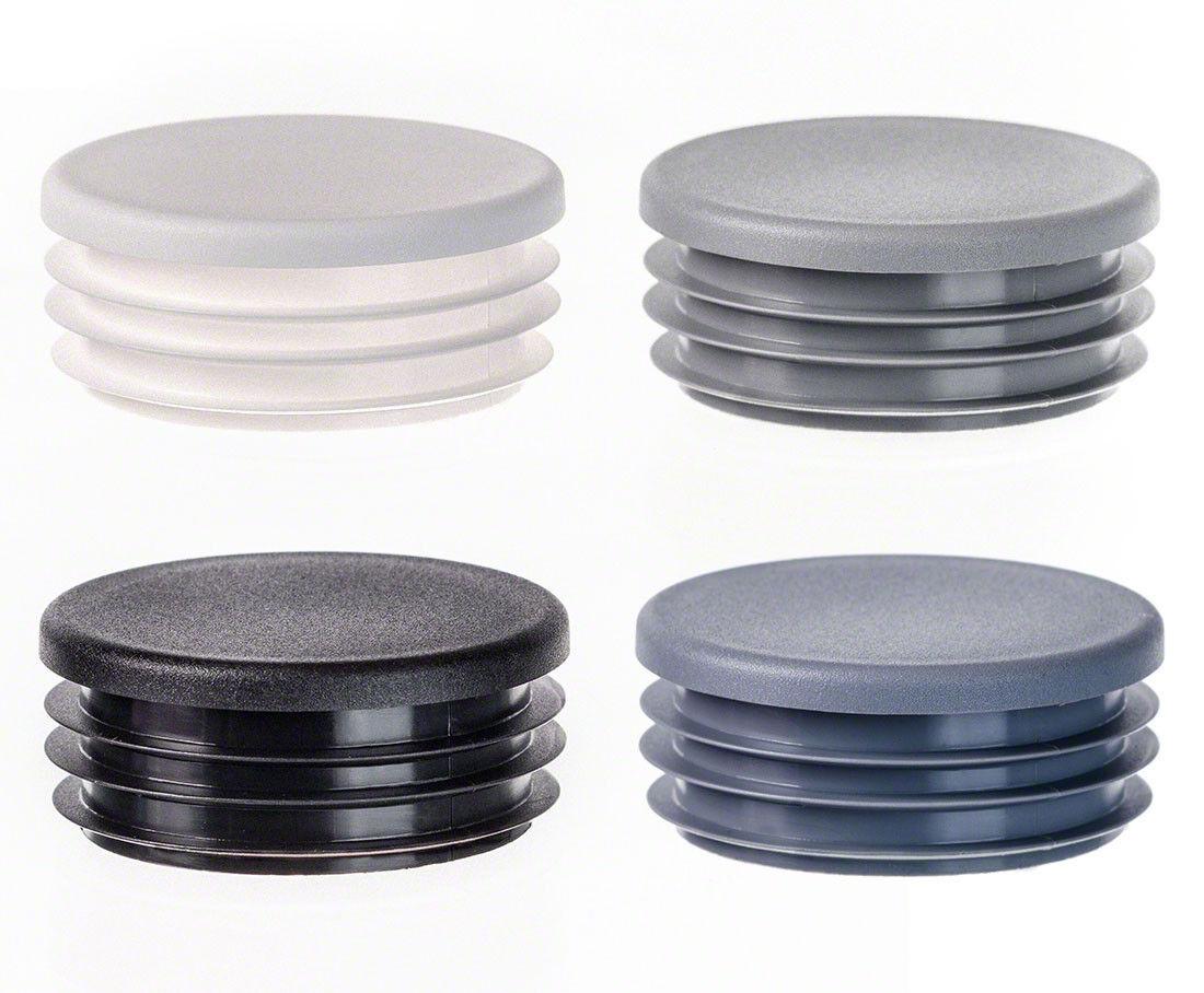25 Stück schwarz Rohrkappen Lamellenstopfen rund 32mm für Rohrwandstärke 1-2mm