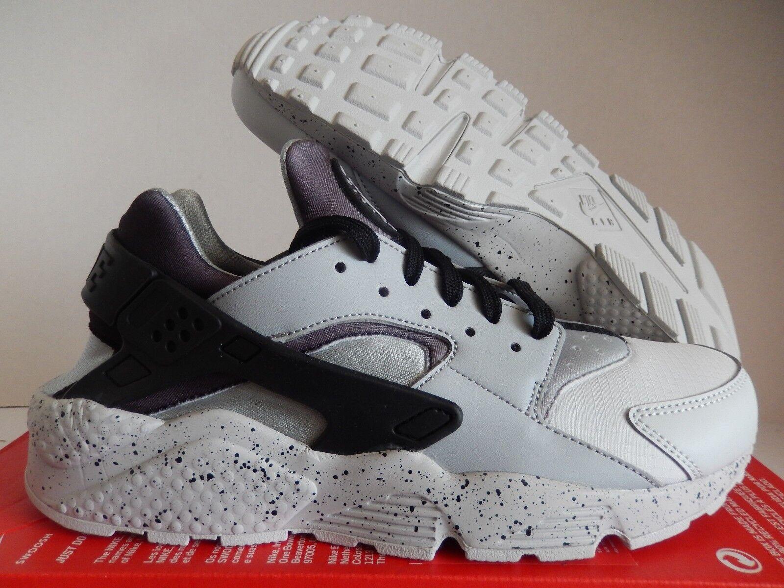 NIKE AIR HUARACHE RUN PRM PREMIUM PURE PLATINUM-BLACK-GREY Price reduction Wild casual shoes