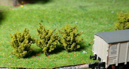 10 Jaune Foncé Verts buissons hauteur 30 mm