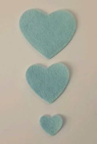 die cuts x 45 Felt Heart Embellishments