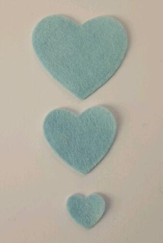 die cuts x 45 Felt Heart Embellishments
