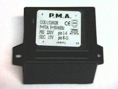 1526028 Transformer Transformator Printtrafo prim 220V sek 15V 5VA P.M.A