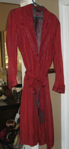 VINTAGE MEN'S SATIN STRIPED ROBE DRESSING GOWN SMO