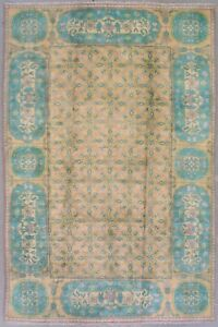 6X9-Antique-Cotton-Indian-Agra-Rug-Hand-Knotted-Oriental-Carpet-circa-1930
