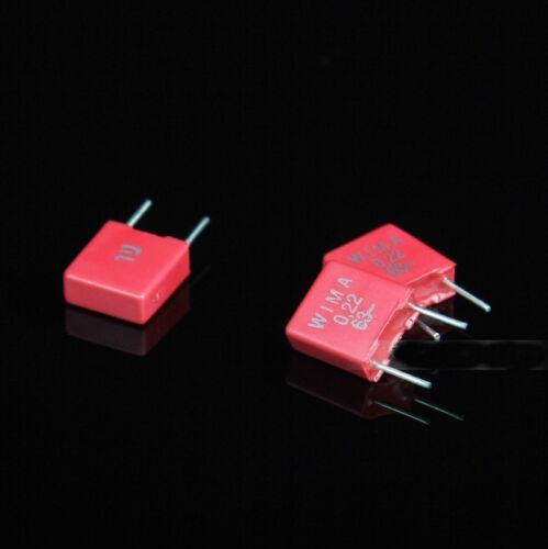 2 Piezas Para Wima mks2 63v 0.22 uf 220nf Audio Crossover non-polarity Capacitor