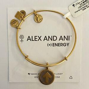 (3) Alex And Ani Stand Up To Cancer Bangle Charm Bracelets Rafaelian Gold Finish