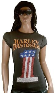 Strass Usa T Authentic 1 Xl Davidson Number Harley One shirt Classic d H fwqAXq