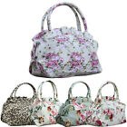 New Women Canvas Floral Flower Leopard Print Zipper Shopping Handbag Bags