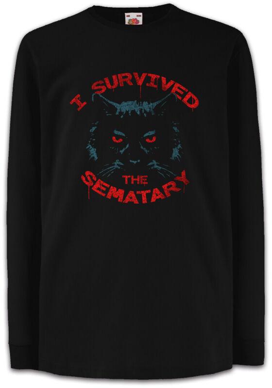 I Survived The Sematary Kids Long Sleeve T-shirt Pet Fun Cat Cats Sematary