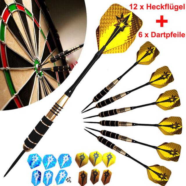 6 Stück Profi Soft Dart Set Darts Pfeile Dartpfeile Softdarts Chrom SET 22G NEU