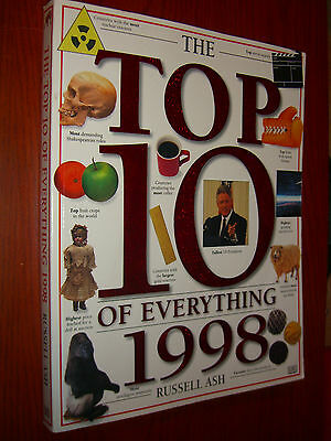 The Top 10 of Everything 1998 by Russell Ash DK Publisher Illustrated First Am.