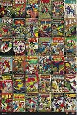 MARVEL COMIC BOOK COVERS - COLLAGE POSTER - 24x36 - 160365