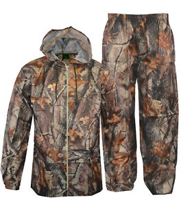 01f8503ca7c69 Mens Over Trouser And Jacket Set Water Resistant Jungle Fishing Camo ...