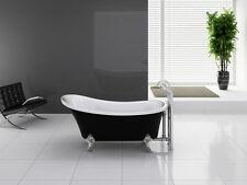 Deluxe Kokss Cesano WB Freestanding Acrylic Seamless White and Black Bathtub