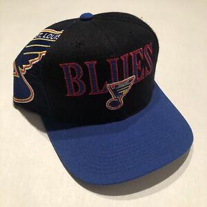 Vintage-St-Louis-Blues-Sports-Specialties-Laser-NHL-Snapback-Hat