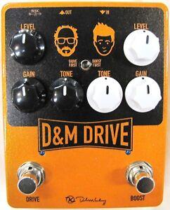 Appris Utilisé Keeley D & M Drive Boost Et Overdrive Pédale De Guitare! D&m Dm-afficher Le Titre D'origine