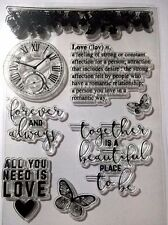 8 Clear Silicone Stamp Card Making Scrapbooking Home Decor Forever & Always Love