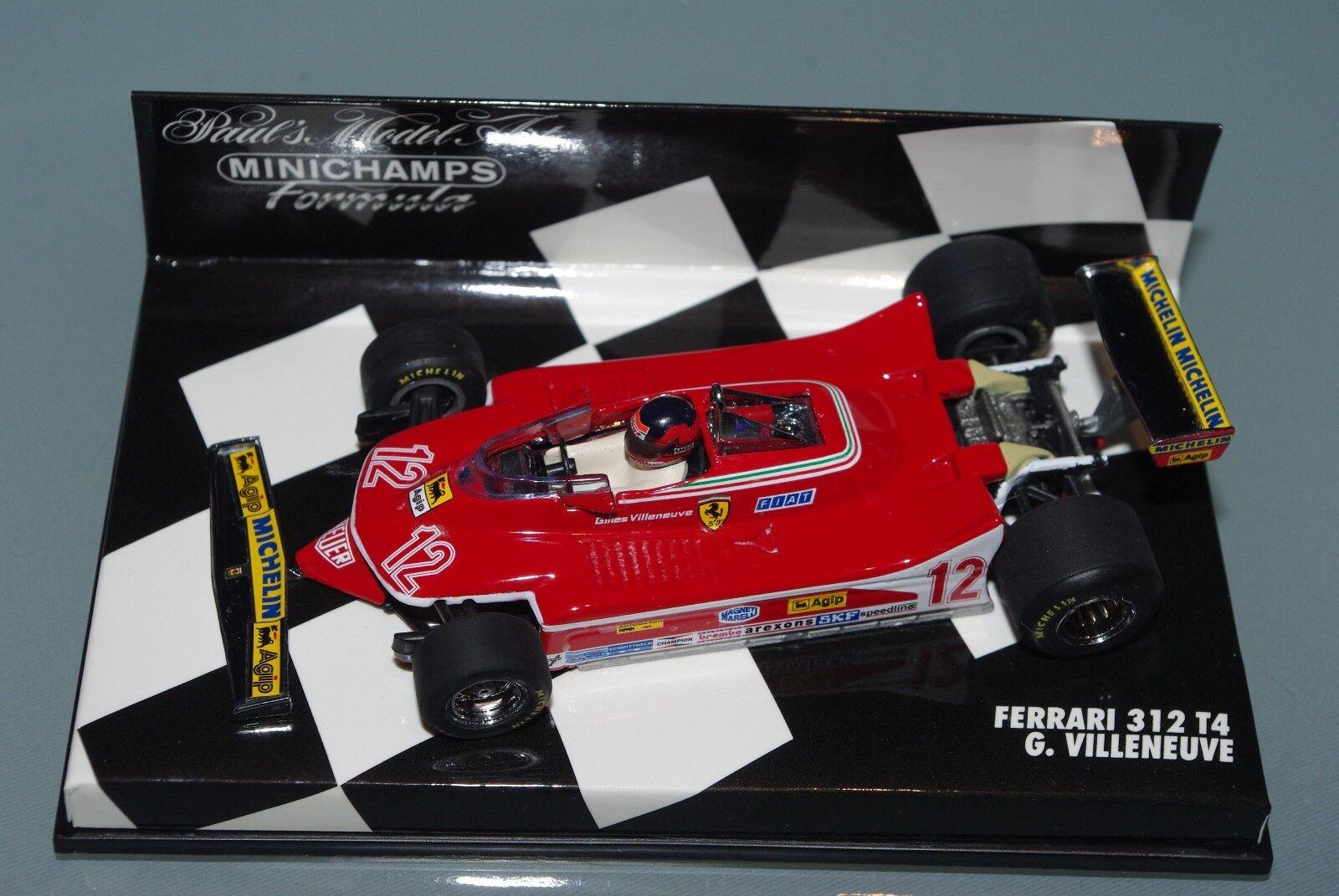 Minichamps F1 1 43 FERRARI 312 T4-Gilles Villeneuve 1979