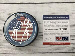 Keith-Yandle-Signed-Autographed-Team-USA-U-S-A-Hockey-Puck-PSA-DNA-COA-a
