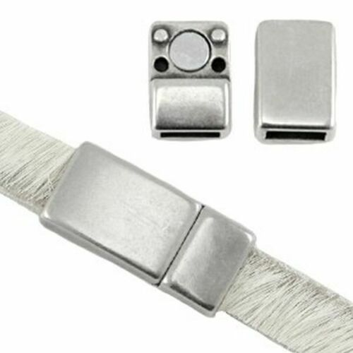 Farbe wähl - f Zamak DQ Metall Magnetverschluss 1 Stk 6 mm flache Bänder