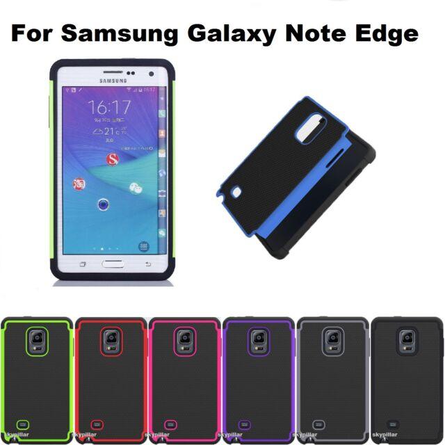 Heavy Duty Hybrid + silicone Hard Case Cover Samsung Galaxy Note Edge