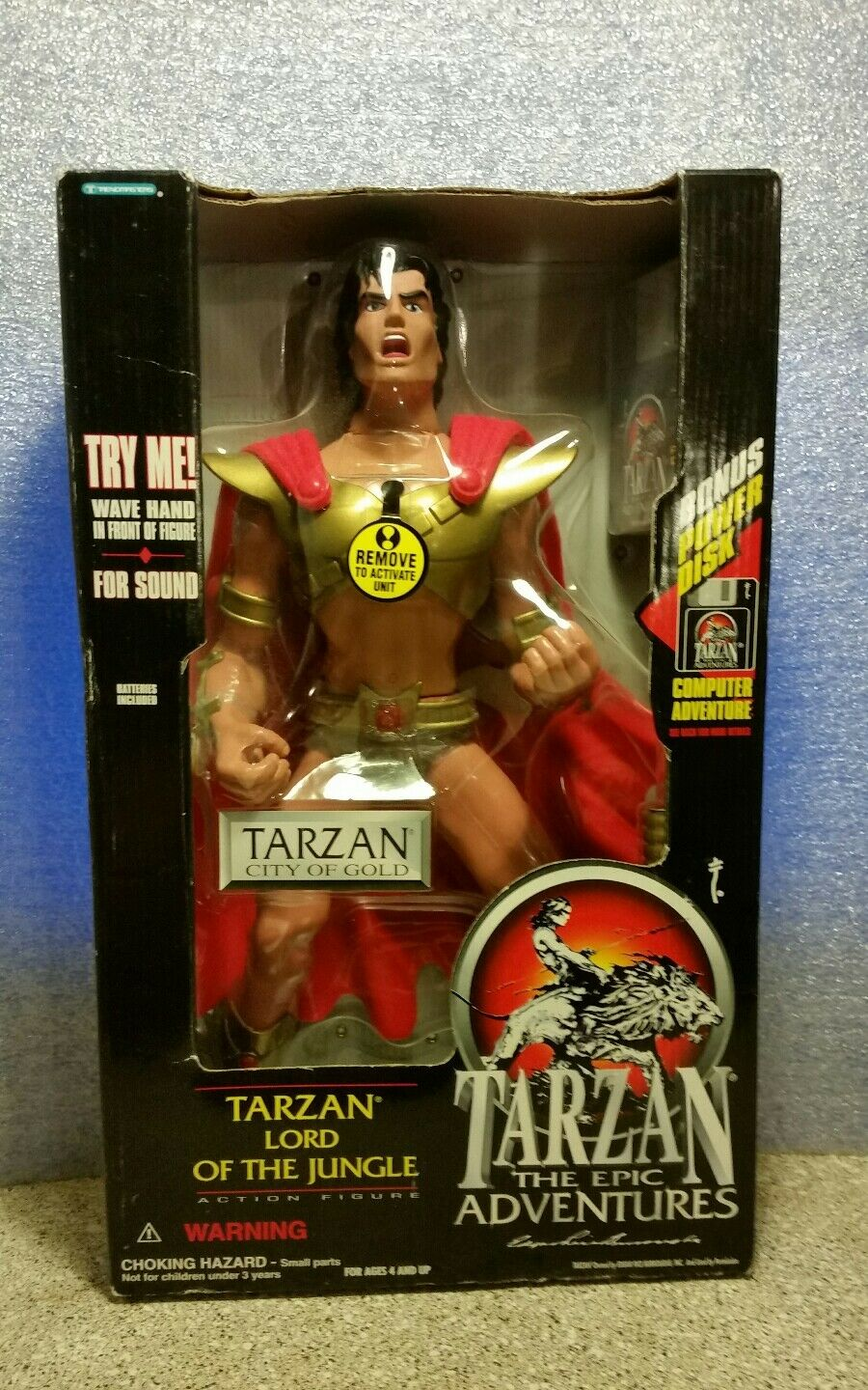 1995 trendmasters 15  tarzan der epische abenteuer actionfigur stadt aus Gold