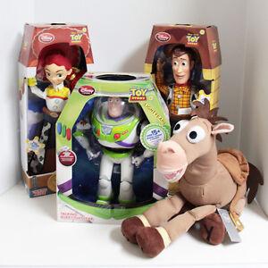 Disney Store Toy Story Woody Jessie Buzz Bullseye Talking Dolls