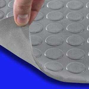 Details zu Gummimatte Antirutschmatte Gummiboden Bodenbelag Noppenmatte  grau 4mm Meterware