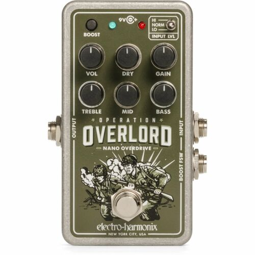 Electro Harmonix Nano Operation Overlord Allied Overdrive Pedal