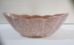 Vintage-Brush-USA-McCoy-Pink-Sponge-Speckled-Planter-Bowl-108
