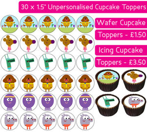 30-HEY-DUGGEE-EDIBLE-WAFER-amp-ICING-CUPCAKES-TOPPERS-BIRTHDAY-PARTY-DECORATION