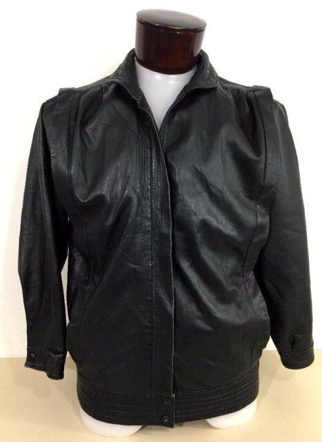eee44516c05 Yves Saint Laurent Black Leather Jacket 80's Retro Vintage Unisex Women Men