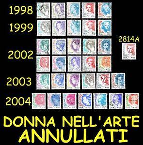 Italia-Donna-nell-039-arte-Tutte-le-emissioni-Annulalte-1998-1999-2002-2003-2004
