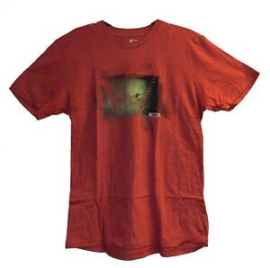 Oakley-Men-039-s-Architecture-Surf-Tee-Black-Blue-Crimson-Red-T-Shirt-Size-Large-XL