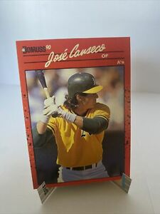 Donruss 1990 Jose Canseco ERROR card #125 (no . after Inc) Excellent RARE 🔥