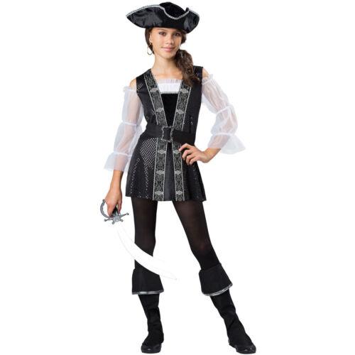 Girls Tween Dark Pirate Halloween Costume