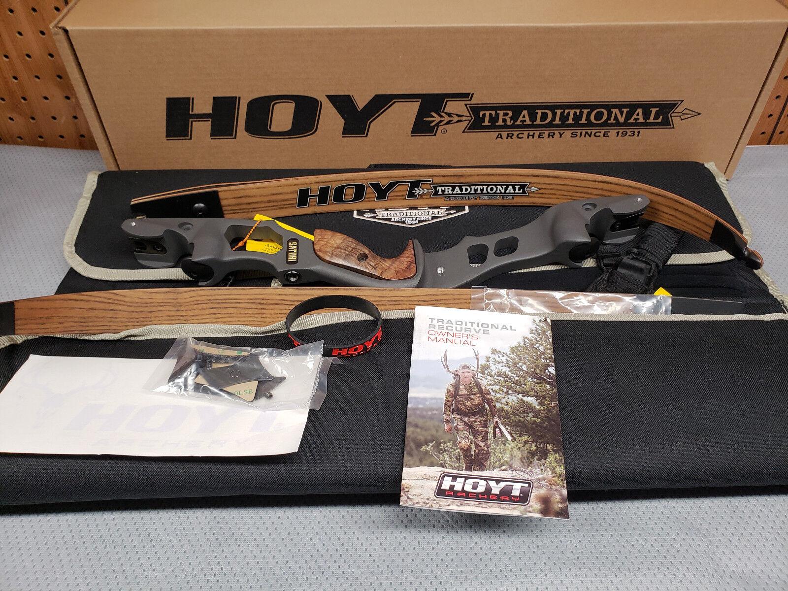 Hoyt Satori Recurve 19  Storm (New color)Riser LH 65Medium Wood Finish Limbs
