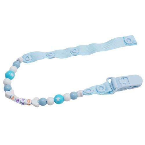 Toddler Baby Hand Made Dummy Pacifier Clip Chain Holder Soother Nipple Strap LH