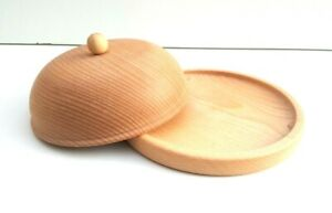 "Wooden plate set of six 12x6,5/"" wide serving plate set natural medieval"