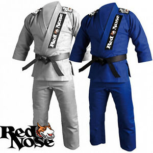 Details about Red Nose BJJ Lightweight Training Gi - 2 Colors w/ White Belt