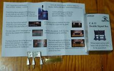 Tomar Industries HO #9502D C&O Double Signal Box (Kit) Light Cast Metal/Brass