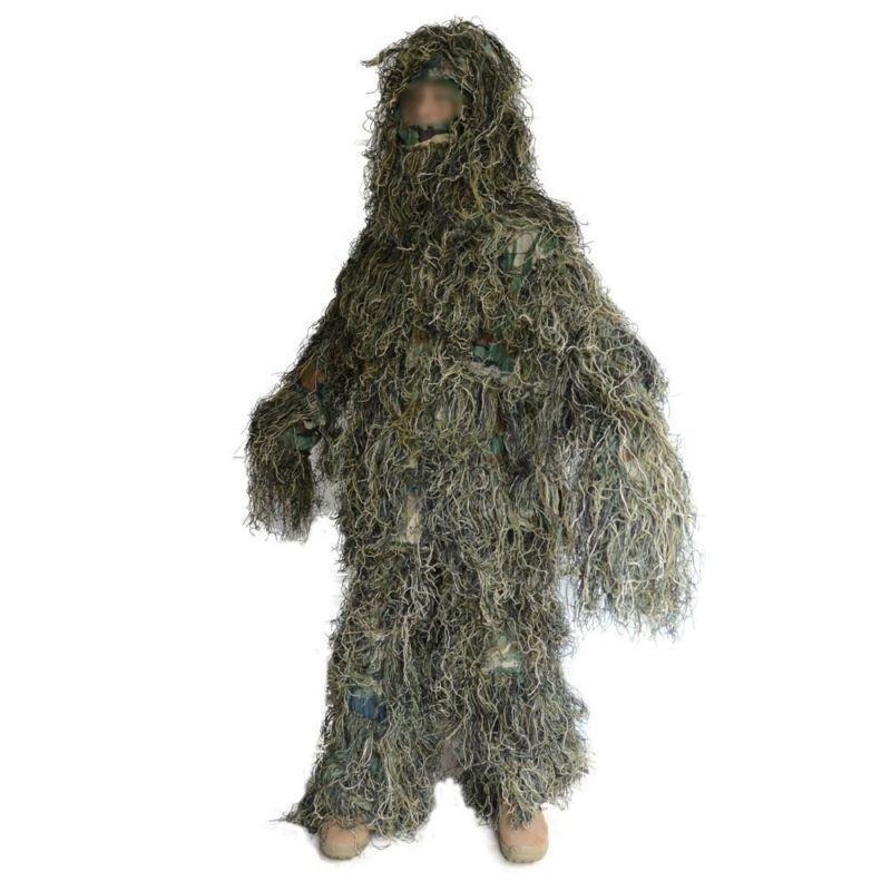 Jungle Camouflage Hunting Woodland Train Suit Sniper Bionic 3D Clothing Sz Ske15