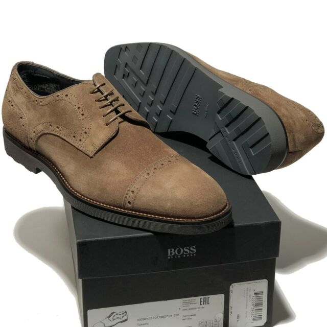 Hugo Boss Italy Brown Suede Leather