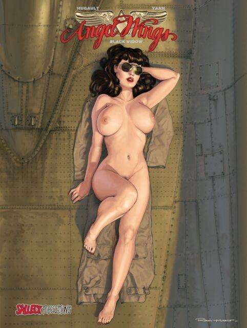 ANGEL WINGS 2 deutsch HC VZA TT Black Widow lim + signed Artprint ROMAIN HUGAULT