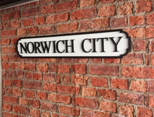Vintage Wood Street Road Sign NORWICH CITY