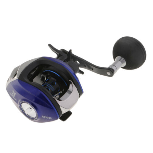 Baitcaster Reel Gear Ratio 6.3:1 Smooth Low Profile Baitcasting Fishing Reel