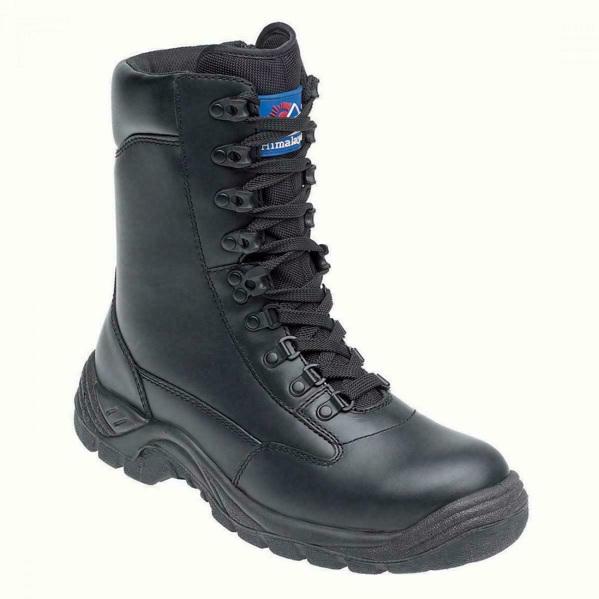 HIMALAYAN 5060 S3 Black Leather High Leg Steel Toe/Midsole Side-Zip Safety Boot