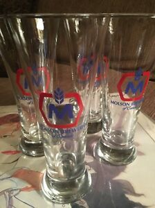 Image Is Loading Molson Beer Glass Breweries Of Canada 10 Oz