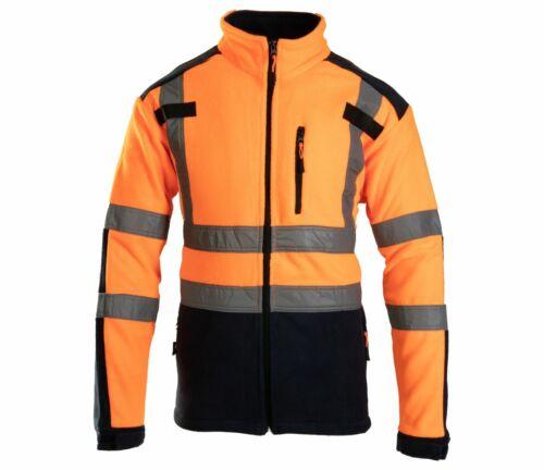 Polstar Flash Herren Fleece Jacke Reflektierend Vlies Schutzjacke Arbeitsjacke